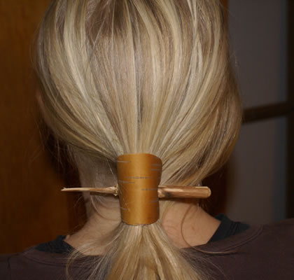 Natural hair clip made by Annette Stickler