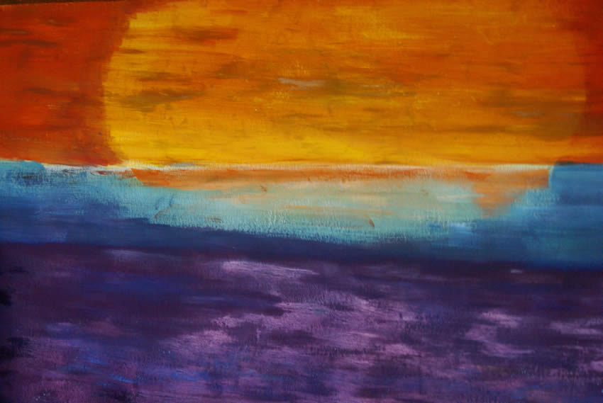 Sunset - a painting by Annette Stickler